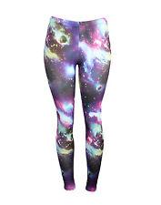 Purple Space Galaxy Supernova Orbital Stretchy Leggings