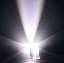 10x  White 10mm 25000mcd LED Lamp Ultra Bright LEDs Light DIY