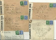 5 x LONDON UK WW2 COVERS CENSORED TO ARGENTINA - 1942/44