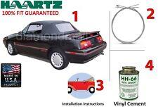 Ford / Mercury Capri convertible Soft Top Kit (DIY) Fits: July 1992 - 1994