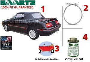 Ford / Mercury Capri convertible Soft Top Kit (DIY) 1990-(June 1992) Black