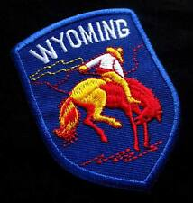 WYOMING RIDER HORSE RODEO Blue Embroidered Iron on Patch + Free Shipping