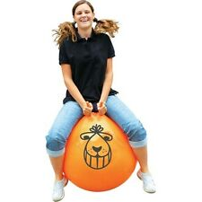 ORANGE RETRO SPACE HOPPER - Adult Kids with Foot Pump 60cm Large Big Boxed