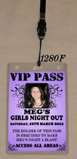 Personalised Hens Night VIP Pass and Invitation Lanyard - Double Sided