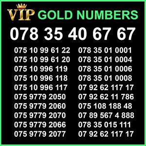 Unique VIP Gold Mobile SIM Card Easy Phone Number Business Platinum Diamond O2