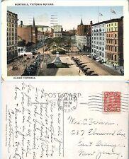 Aerial View of Victoria Square  Montreal Quebec Canada 1931  Postcard