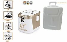Universal All in One  Travel Adapter,  Power Converter plug, with 2 usb ports