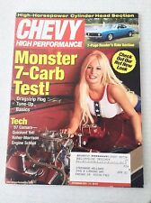Chevy High Performance Magazine Monster 7-Carb Test! December 2001 031417NONRH