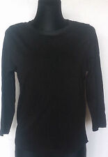 Zara Collection Black 3/4 Sleeve Women's Blouse Size:M