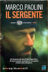 Il sergente. MARCO PAOLINI - DVD + LIBRO NUOVO SIGILLATO