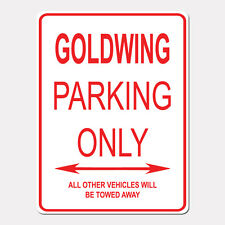 "CUSTOM GOLDWING Parking Only Street Sign Heavy Duty Aluminum Sign 9"" x 12"""
