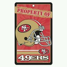 "SAN FRANCISCO 49ERS ""PROPERTY OF"" SIGN FREE SHIPPING! Durable Poster"