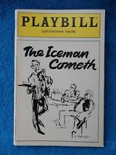 The Iceman Cometh - Lunt-Fontanne w/Ticket - Opening Night September 29th, 1985