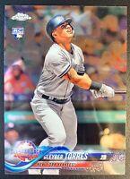 2018 Topps Update Chrome #HMT80 GLEYBER TORRES Rookie Card New York Yankees