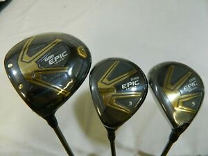 New LH Callaway GBB Epic Star Driver + Fairway Wood set 10.5* + 3 + 5 Regular