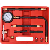 0-100 psi Car Fuel Injection Pressure Tester Shockproof Tool Gauge Dual Scale