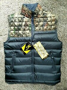 NWT ~ Browning Full Zip A-Tacs Camouflage  Vest ~ NEW Men's $149 Hunting Size M