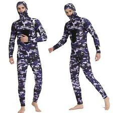 3mm Neoprene Diving Suit Wetsuits Long Sleeve Pants w/ Hood Snorkeling Surfing