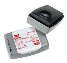 3M Cartuccia Incapsulato Filtro 6038 P3 R Particolato Polvere Vapore Gas