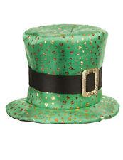 Chapeau haut de forme Saint Patrick trèfles dorés Adulte Cod.81923