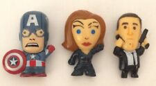3 Pc Avengers Shield Chibi Capt America Black Widow Phil Coulson Marvel Figures