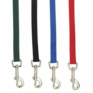 Dog Training Leads Cotton Web Leash Strong Extra Long Choose Size and Color