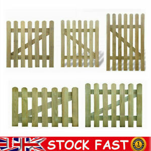 5 Sizes Wooden Picket Garden Gate Wood Patio Fencing Door Fence Gate Assembly