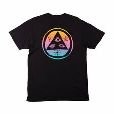 Genuine Welcome Skateboards Talisman T-Shirt - Black/Rainbow (Large)
