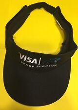 Carolina Panthers Embroidered Black visor cap hat Adjustable VISA Proud Sponsor