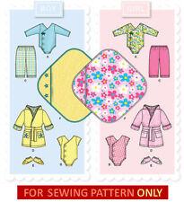 SEWING PATTERN! MAKE BABY BOY~GIRL LAYETTE! ONESIE~ROBE~MORE! SIZE PREEMIE-24 LB