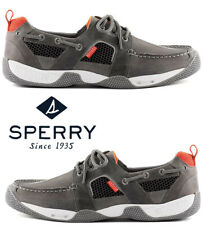 Sperry Top-Sider Sea Kite Sport Moc Men's Leather Mesh Grey Water-resistant