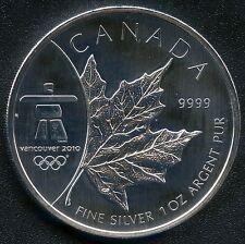2008 Canada 1 Oz 5 Dollar Maple Leaf Coin ( 2010 Olympics )