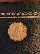 1963 Canada silver 10 cent coin - Canadian dime Original Circulated Patina