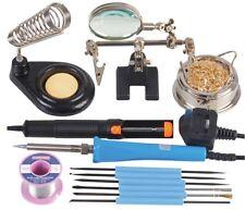 El Kit de soldadura Essentials 40W-Soporte de alta resistencia con Esponja Latón limpio