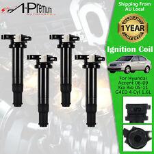 4x Ignition Coils for Hyundai Accent 2006-2009 Kia Rio 2005-2011 1.6L G4ED