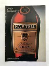 Martell Cognac Vintage 1981 Print Ad
