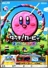 Kirby and the Rainbow Paintbrush RARE Wii U 51.5cm x 73 Japanese Promo Poster