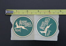 SOUTH AFRICA Johannesburg – 2 Round Stickers of the 1986 South African Games