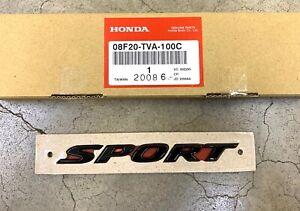 Genuine OEM Honda Accord Gloss Black Rear Sport Emblem 2018-2021 08F20-TVA-100C