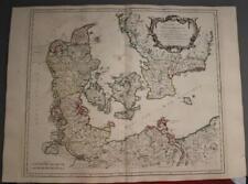 DENMARK & SOUTHERN SWEDEN 1750 ROBERT DE VAUGONDY ANTIQUE COPPER ENGRAVED MAP