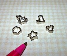 Miniature Metal Cookie Cutters Set C for DOLLHOUSE Miniatures 1:12 Scale