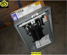NIB SQ D QO120M100 100AMP 1 PHASE INDOOR L/C 20 CKT M/B PANEL COVER NOT INCLUDED