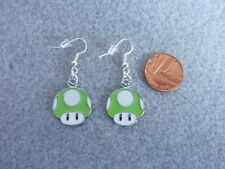 Super Mario Bros Green Mushroom Enamel Charm S Plated Earrings Birthday Gift 283