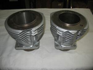 "OEM Harley 74"" Shovelhead Cylinders, +010 Front & +040 Rear now, Fins Good"