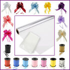 Clear Cellophane Hamper Gift Wrap Birthday + Free Pull Bow / Curling Ribbon