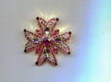 Pink Light Purple Prong Set Maltese Pin