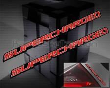 SUPERCHARGER RED ICON 3D EMBLEM ROCKER PANEL BADGES PAIR