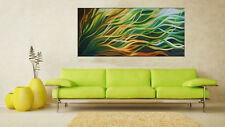 Large mangrove breeze 160cmx 70cm  Art Painting Abstract original  COA By Jane