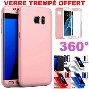 Etui Coque Housse Pour Samsung + Film Verre Trempe Protection Intégrale 360°