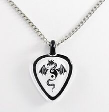 Glass Baron ~ Dragon Guitar Pick Necklace ~ Swarovski Crystal ~ YinYang ~ NIB